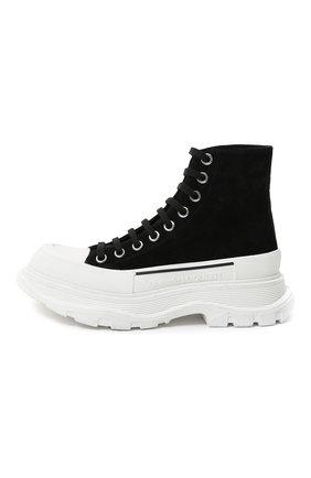 Женские текстильные ботинки ALEXANDER MCQUEEN черного цвета, арт. 633900/WHBGU   Фото 2