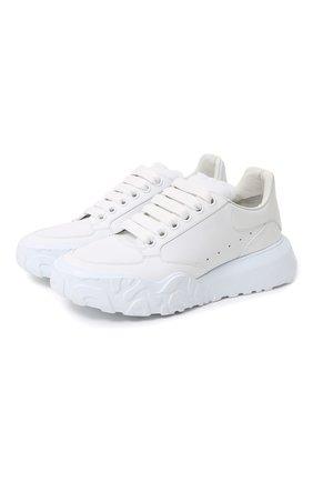 Женские кожаные кроссовки ALEXANDER MCQUEEN белого цвета, арт. 633915/WHT9D   Фото 1