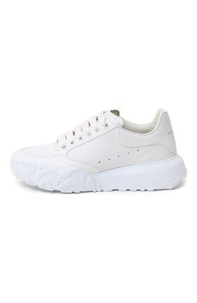 Женские кожаные кроссовки ALEXANDER MCQUEEN белого цвета, арт. 633915/WHT9D   Фото 2