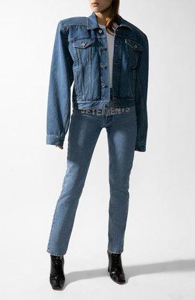 Женская джинсовая куртка VETEMENTS голубого цвета, арт. WAH21JA073/2803 | Фото 1