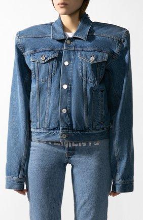 Женская джинсовая куртка VETEMENTS голубого цвета, арт. WAH21JA073/2803 | Фото 2