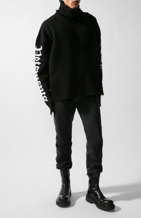 Мужской хлопковый свитер VETEMENTS черного цвета, арт. UAH21KN052/1254 | Фото 1