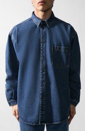 Мужская джинсовая рубашка VETEMENTS синего цвета, арт. UAH21SH043/2801 | Фото 2