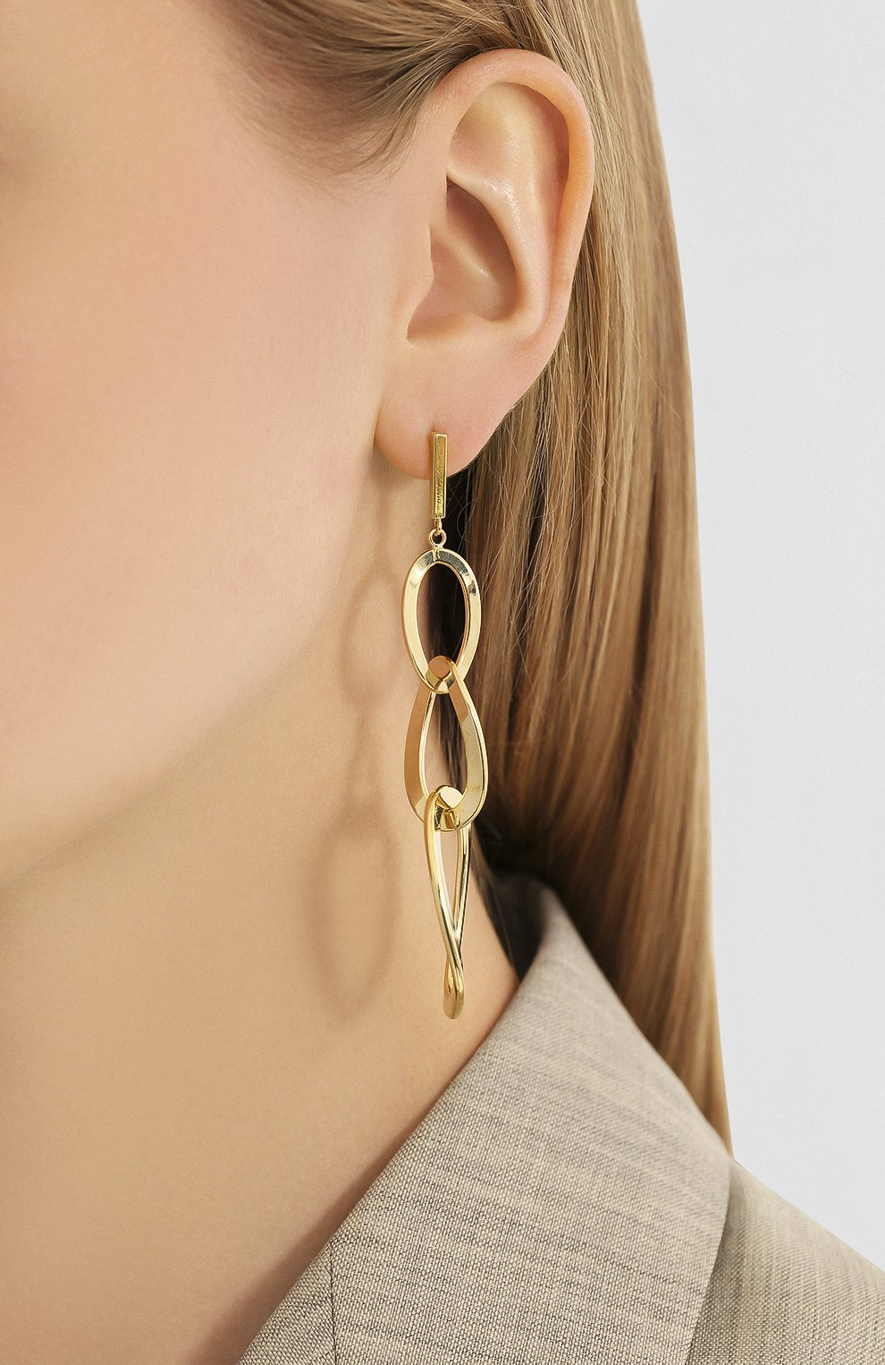 Женские серьги EXCLAIM золотого цвета, арт. 035G2668E | Фото 2