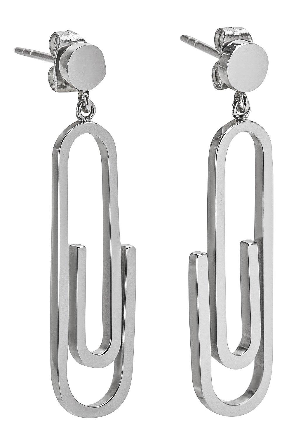 Женские серьги EXCLAIM серебряного цвета, арт. 037S2798E   Фото 3