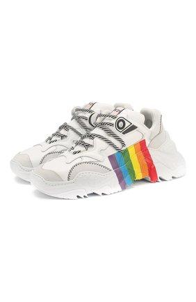 Женские комбинированные кроссовки N21 белого цвета, арт. 20ESP00050005/BILLY | Фото 1