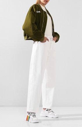 Женские комбинированные кроссовки N21 белого цвета, арт. 20ESP00050005/BILLY | Фото 2