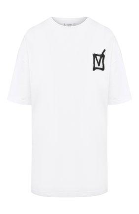 Женская хлопковая футболка VETEMENTS белого цвета, арт. UAH21TR513 1600/W   Фото 1