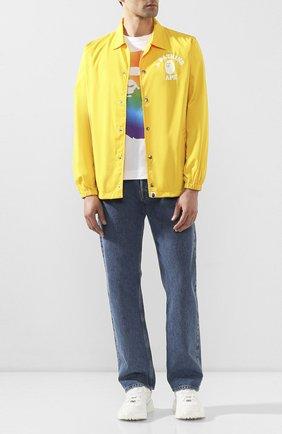Мужская хлопковая футболка BAPE белого цвета, арт. 1G30110054 | Фото 2