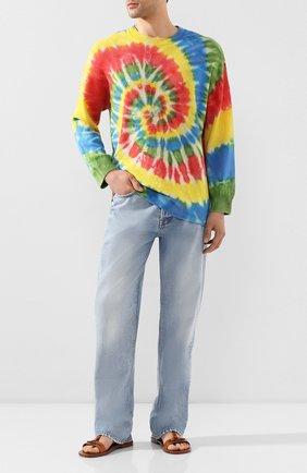 Мужской хлопковый свитер loewe x paula's ibiza LOEWE разноцветного цвета, арт. H616333X12 | Фото 2