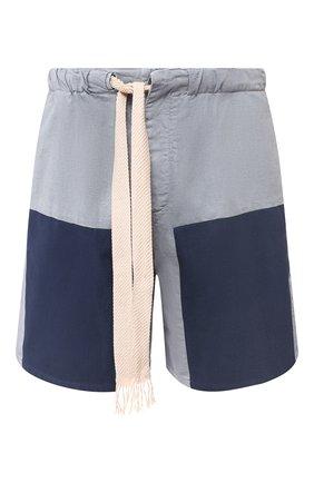 Мужские хлопковые шорты loewe x paula's ibiza LOEWE голубого цвета, арт. H616331X50 | Фото 1