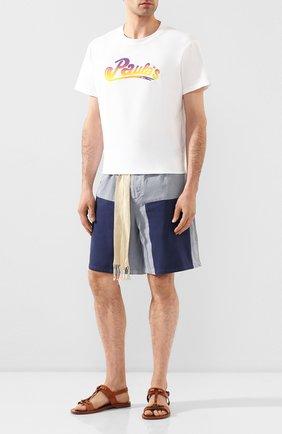 Мужские хлопковые шорты loewe x paula's ibiza LOEWE голубого цвета, арт. H616331X50 | Фото 2
