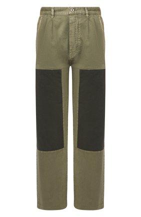 Мужской хлопковые брюки loewe x paula's ibiza LOEWE хаки цвета, арт. H616331X46 | Фото 1
