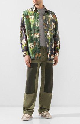 Мужской хлопковые брюки loewe x paula's ibiza LOEWE хаки цвета, арт. H616331X46 | Фото 2