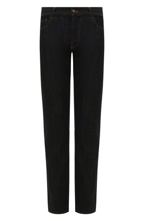 Мужские джинсы CANALI черного цвета, арт. 91700/PD00018 | Фото 1