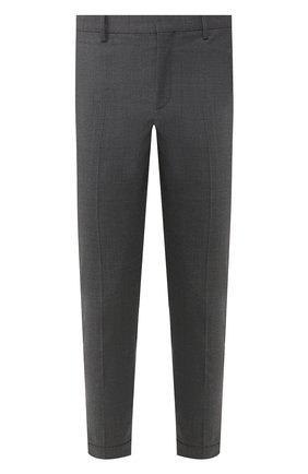 Мужской брюки NEIL BARRETT темно-серого цвета, арт. PBPA488/P026 | Фото 1