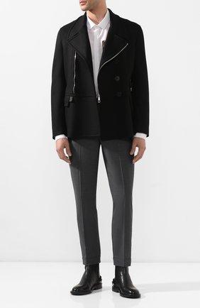 Мужской брюки NEIL BARRETT темно-серого цвета, арт. PBPA488/P026 | Фото 2