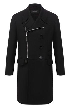 Мужской пальто NEIL BARRETT черного цвета, арт. PBCA322CZ/P017C | Фото 1