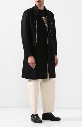 Мужской пальто NEIL BARRETT черного цвета, арт. PBCA322CZ/P017C | Фото 2