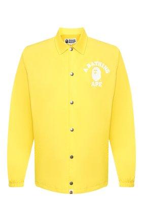 Мужская куртка BAPE желтого цвета, арт. 1G30140015   Фото 1