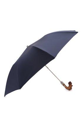 Мужской складной зонт PASOTTI OMBRELLI темно-синего цвета, арт. 64S/RAS0 0XF0RD/14/N49 | Фото 2