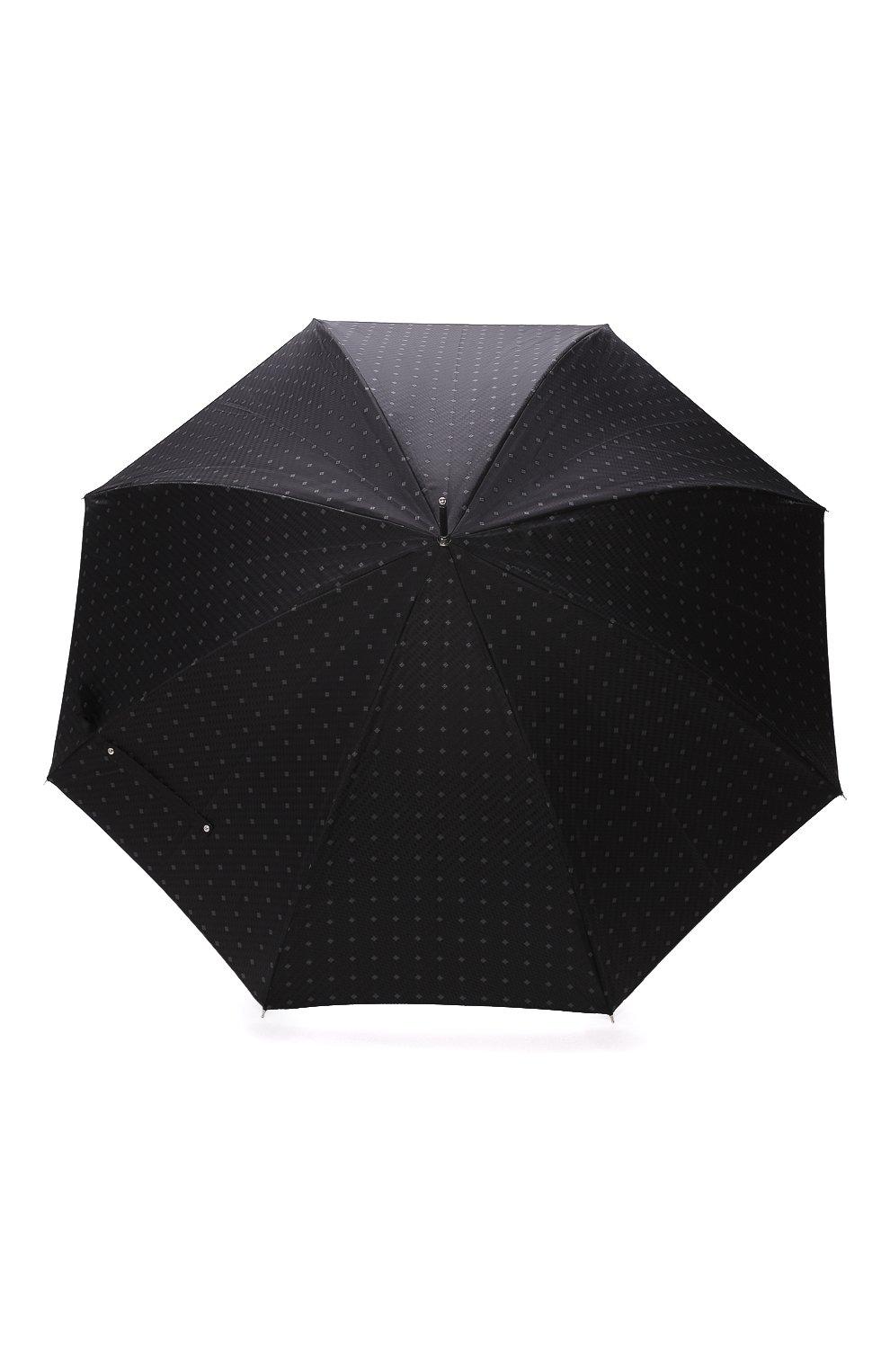 Мужской зонт-трость PASOTTI OMBRELLI черного цвета, арт. 478/RAS0 6279/1/N60   Фото 1