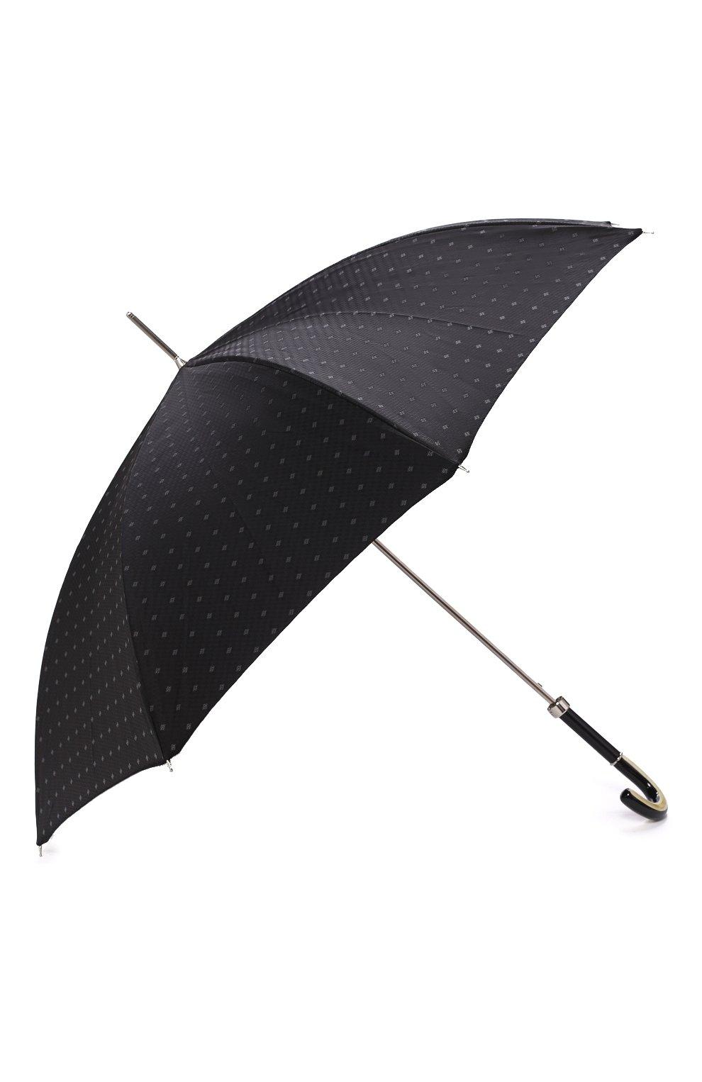 Мужской зонт-трость PASOTTI OMBRELLI черного цвета, арт. 478/RAS0 6279/1/N60   Фото 2