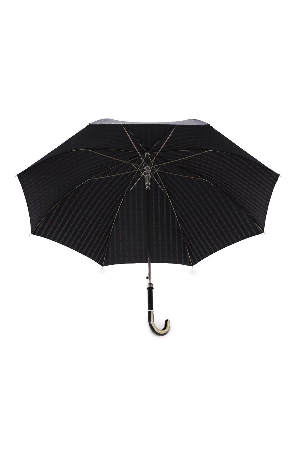 Мужской зонт-трость PASOTTI OMBRELLI черного цвета, арт. 478/RAS0 6279/1/N60   Фото 3