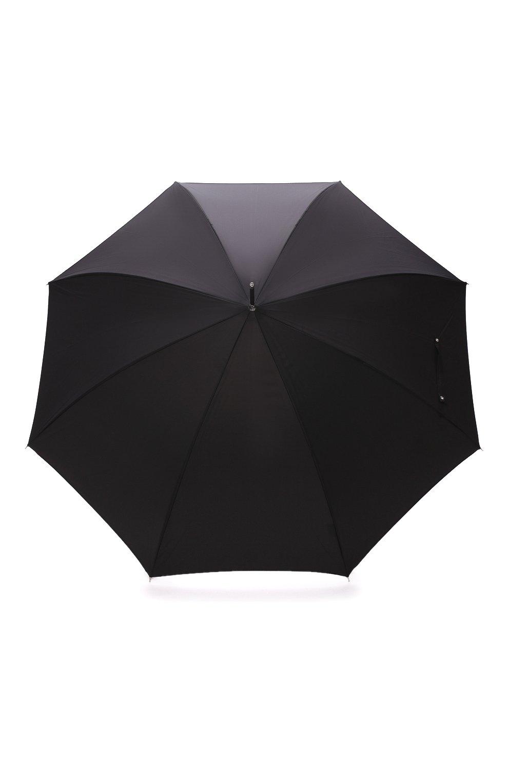 Мужской зонт-трость PASOTTI OMBRELLI черного цвета, арт. 478/RAS0 0XF0RD/18/K71 | Фото 1 (Материал: Текстиль, Металл)
