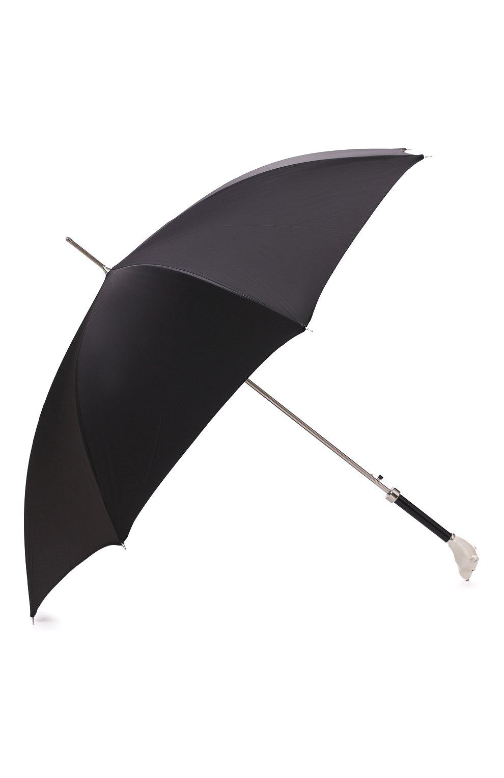 Мужской зонт-трость PASOTTI OMBRELLI черного цвета, арт. 478/RAS0 0XF0RD/18/K71 | Фото 2 (Материал: Текстиль, Металл)