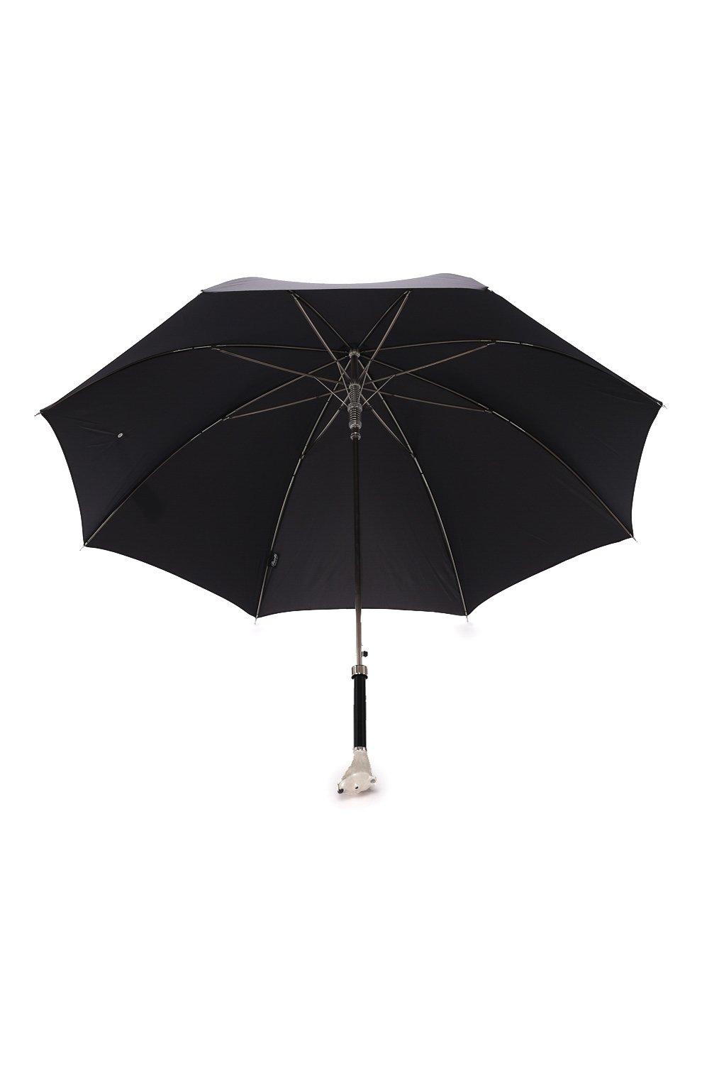 Мужской зонт-трость PASOTTI OMBRELLI черного цвета, арт. 478/RAS0 0XF0RD/18/K71 | Фото 3 (Материал: Текстиль, Металл)