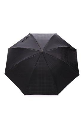 Мужской складной зонт PASOTTI OMBRELLI черного цвета, арт. 64S/RAS0 6434/19/PELLE D0LLAR0 | Фото 1