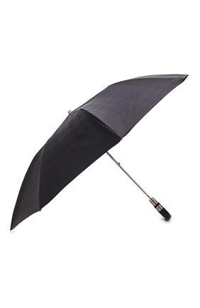 Мужской складной зонт PASOTTI OMBRELLI черного цвета, арт. 64S/RAS0 6434/19/PELLE D0LLAR0 | Фото 2