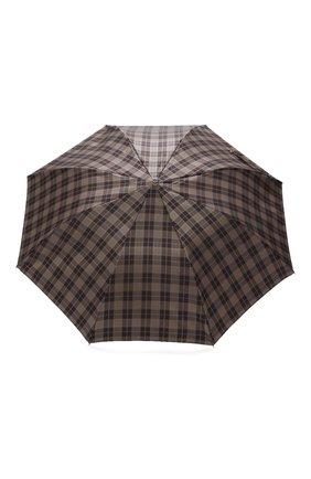 Мужской складной зонт PASOTTI OMBRELLI коричневого цвета, арт. 64S/DIAM0ND/20/PELLE D0LL. | Фото 1