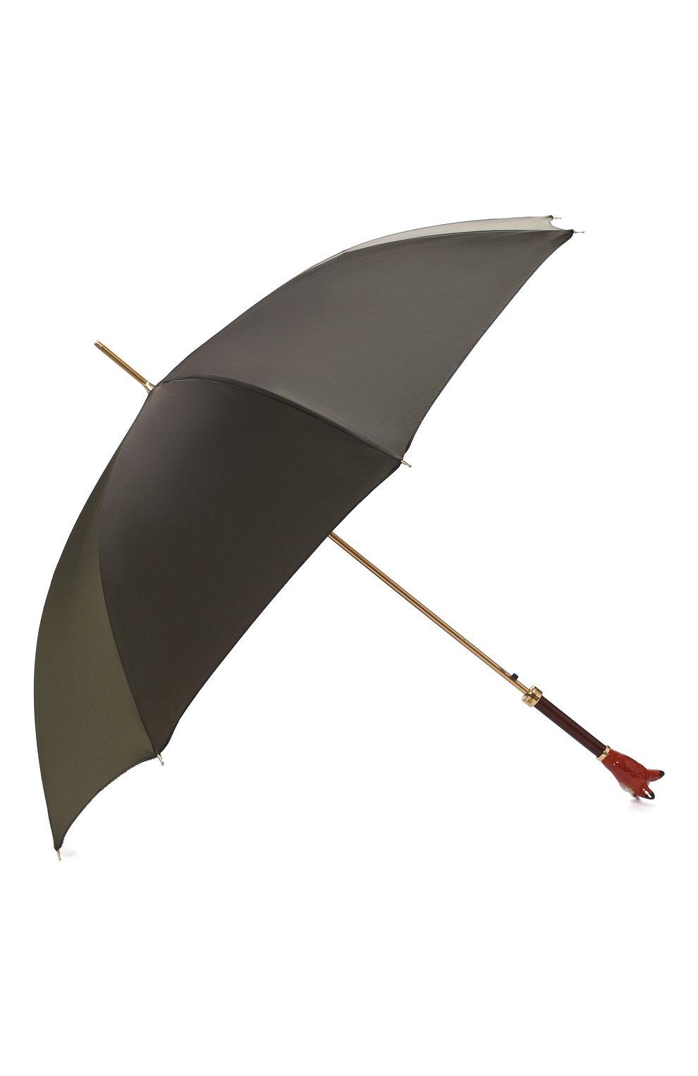 Мужской зонт-трость PASOTTI OMBRELLI хаки цвета, арт. 479/RAS0 0XF0RD/10/K48 | Фото 2