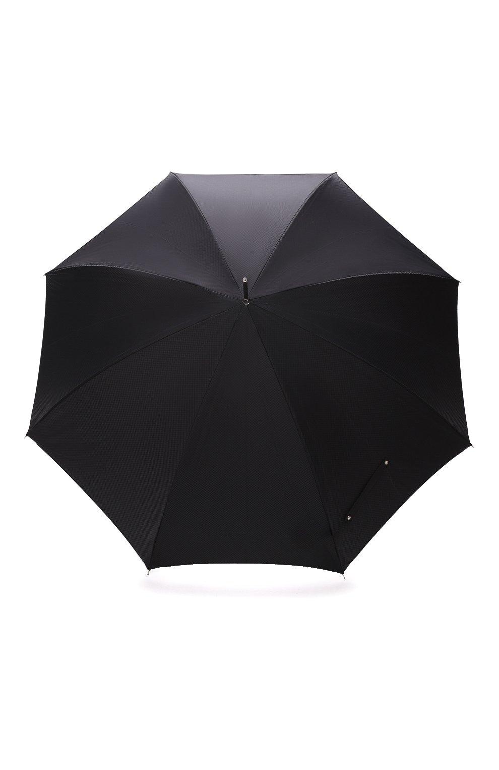 Мужской зонт-трость PASOTTI OMBRELLI черного цвета, арт. 478/SC0TLAND 50890/5/W10 | Фото 1 (Материал: Текстиль, Синтетический материал, Металл)