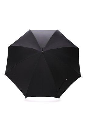 Мужской зонт-трость PASOTTI OMBRELLI черного цвета, арт. 478/SC0TLAND 50890/5/W10 | Фото 1