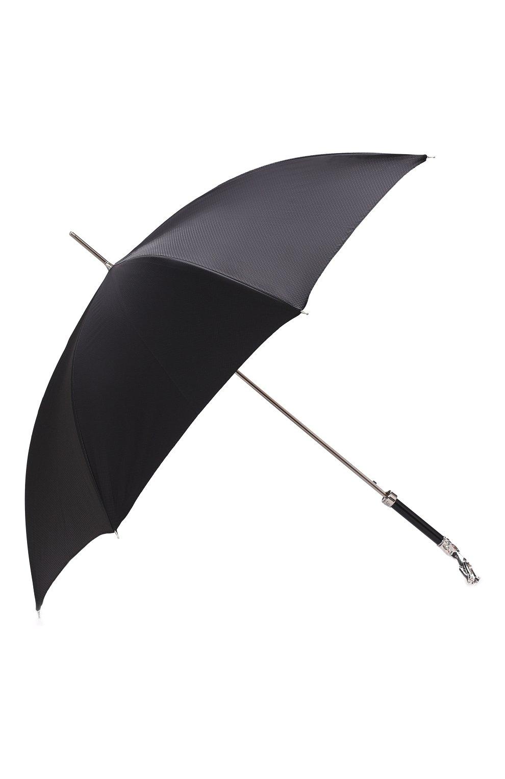 Мужской зонт-трость PASOTTI OMBRELLI черного цвета, арт. 478/SC0TLAND 50890/5/W10 | Фото 2 (Материал: Текстиль, Синтетический материал, Металл)