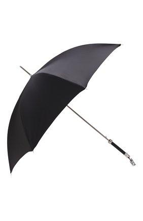 Мужской зонт-трость PASOTTI OMBRELLI черного цвета, арт. 478/SC0TLAND 50890/5/W10 | Фото 2