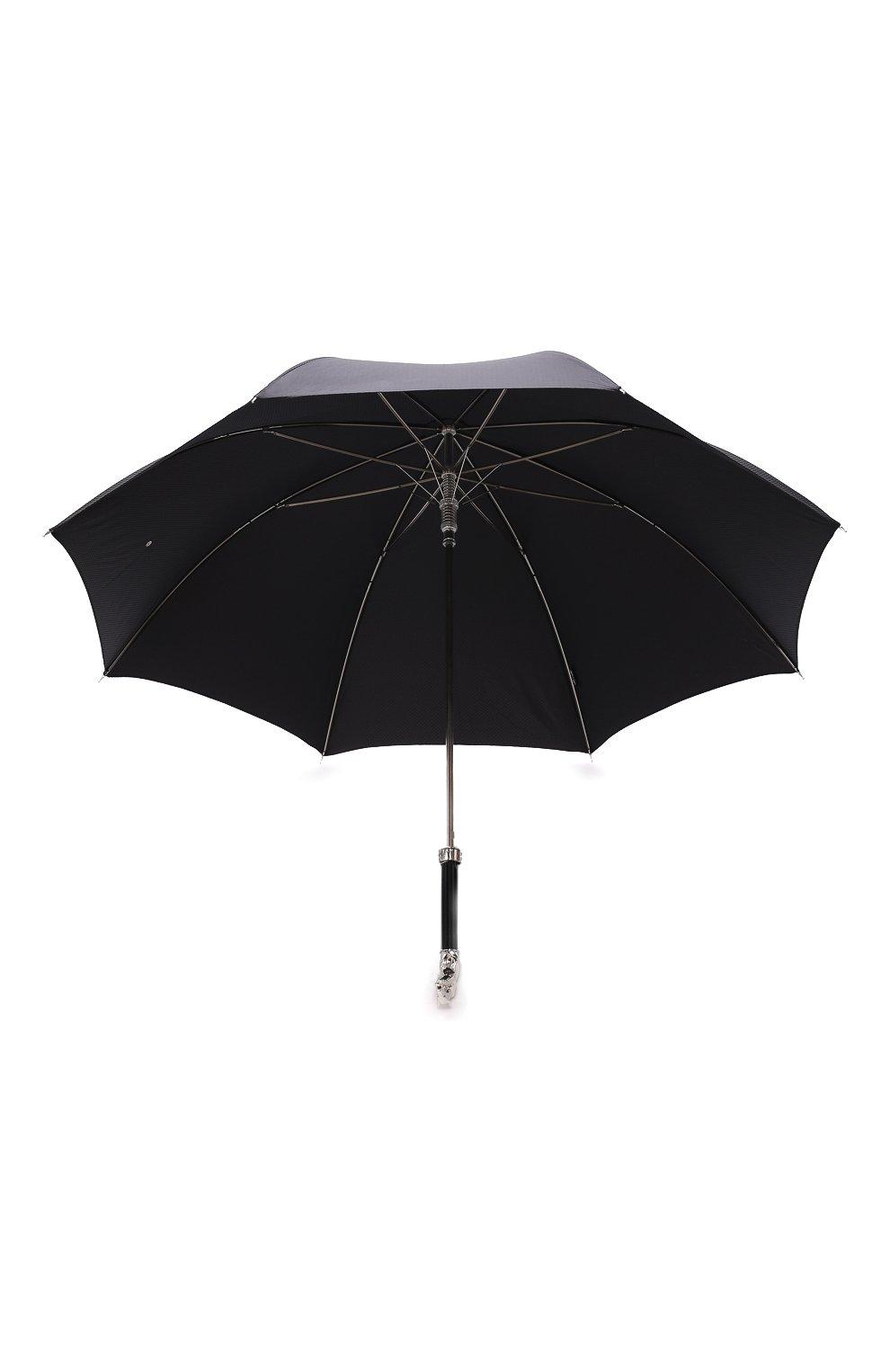 Мужской зонт-трость PASOTTI OMBRELLI черного цвета, арт. 478/SC0TLAND 50890/5/W10 | Фото 3 (Материал: Текстиль, Синтетический материал, Металл)