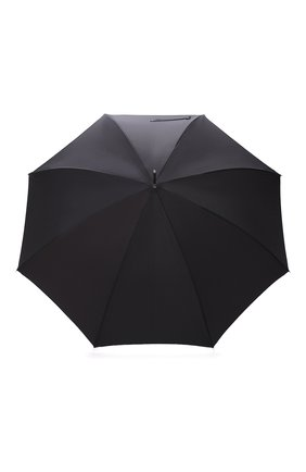 Мужской зонт-трость PASOTTI OMBRELLI черного цвета, арт. 478/NIAGARA 7079/8/PELLE D0LLAR0+CASE AND RING CL0 | Фото 1