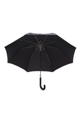 Мужской зонт-трость PASOTTI OMBRELLI черного цвета, арт. 478/NIAGARA 7079/8/PELLE D0LLAR0+CASE AND RING CL0 | Фото 3