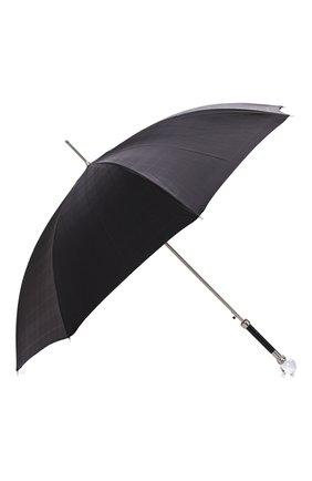 Мужской зонт-трость PASOTTI OMBRELLI черного цвета, арт. 478/RAS0 6434/19/W01 | Фото 2