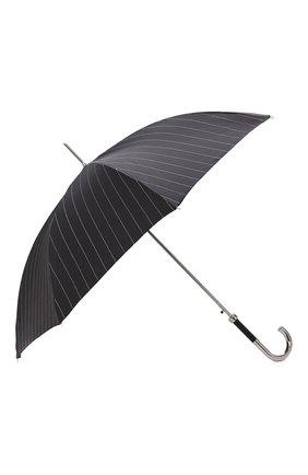Мужской зонт-трость PASOTTI OMBRELLI черного цвета, арт. 478/RAS0 1094/1/M31 | Фото 2