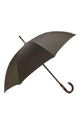 Мужской зонт-трость PASOTTI OMBRELLI хаки цвета, арт. 476/RAS0 0XF0RD/10/W00DEN CLASSIC HANDLE | Фото 2