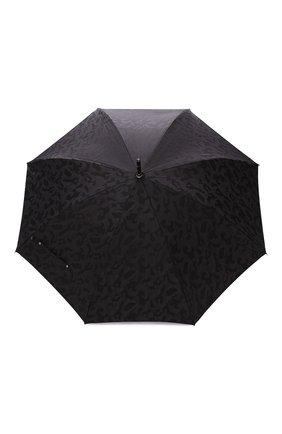 Мужской зонт-трость PASOTTI OMBRELLI черного цвета, арт. 142/MILITARE 11780/142/W00DEN CLASSIC HANDLE | Фото 1