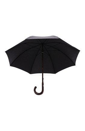 Мужской зонт-трость PASOTTI OMBRELLI черного цвета, арт. 142/MILITARE 11780/142/W00DEN CLASSIC HANDLE | Фото 3