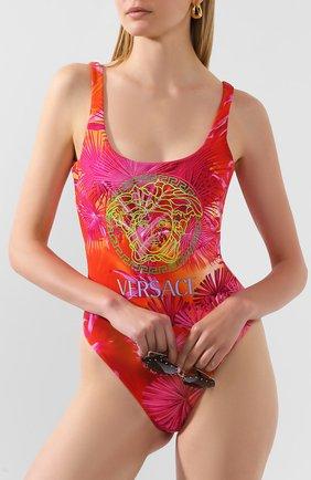 Женский слитный купальник VERSACE фуксия цвета, арт. ABD87000/A234851 | Фото 2