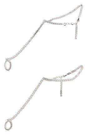 Женский браслет на ногу GIANVITO ROSSI серебряного цвета, арт. QXX419.CHSTR.MG4NICR   Фото 1