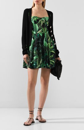 Женское хлопковое платье DOLCE & GABBANA зеленого цвета, арт. F6J1NT/HS5HE | Фото 2